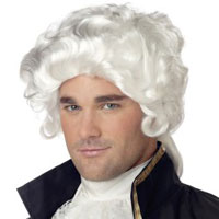 John Adams Colonial Man White Wig