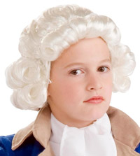 Child Colonial White Wig