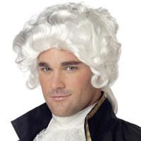John Adams Colonial Man White Wig