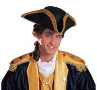 President Adams Men's Colonial Tricorn Hat